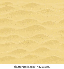 Vector seamless pattern with beach sand.