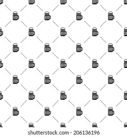 Vector seamless pattern, beer, Editable can be used for web page backgrounds, pattern fills