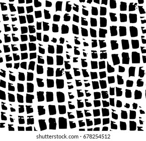 vector seamless pattern black watercolor squares on a white background
