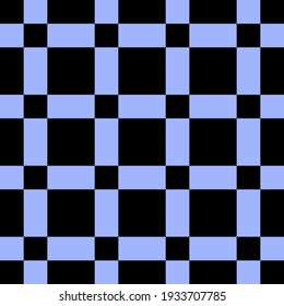 Vector seamless pattern with blue squares shapes tiling. Repeating minimalistic geometric texture. Abstract monochrome background design.