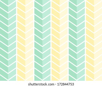 Vector seamless pattern, blue and yellow chevron motive
