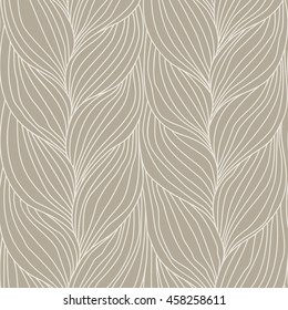 Vector seamless pattern with braids. Decorative illustration for print, web. Texture of yarn or hairstyle with plaits close-up. Abstract ornamental background in form of a knitted fabric.