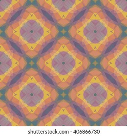 Vector seamless pattern with bright abstract geometric mosaic