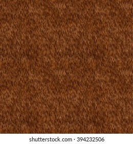 Vector Seamless Pattern. Brown Fur Background. Bear, Dog Skin. Digital Illustration.