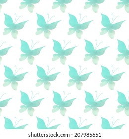 Vector seamless pattern butterfly. Art butterflies background. Abstraction polygonal spectrum animals backdrop. Insect silhouette isolated on white. Multicolored origami style.