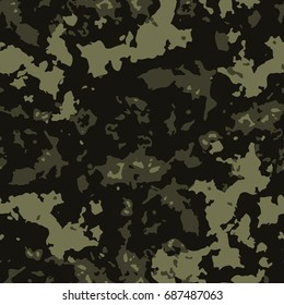 Vector seamless pattern camouflage design. Camo textile print. Ethnic fashion background.