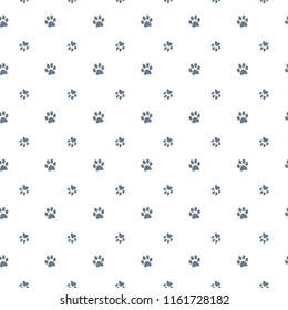 Vector seamless pattern with cat or dog,kitten or puppy footprints. Can be used for wallpaper,fabric, web page background, surface textures.