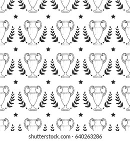 Vector seamless pattern - Championship Trophy cup