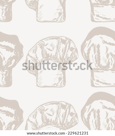 30e328ac6b1 Vector Seamless Pattern Chef Hats Stock Vector (Royalty Free ...