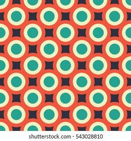 Vector seamless pattern with circles. Vector background.
