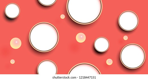 vector seamless pattern of circles and balls