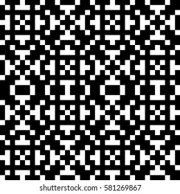 Vector seamless pattern. Decorative element, design template with ethnic black white motifs. Background, texture with traditional handicraft. Fabric tracery swatch for cloth, jersey, plaid, tapestry.