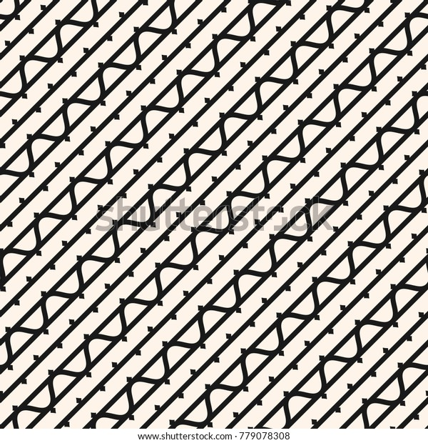 Vector Seamless Pattern Diagonal Lines Wavy Stock Vector Royalty Free 779078308