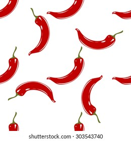 Vector seamless pattern. Elements in the form of a pepper