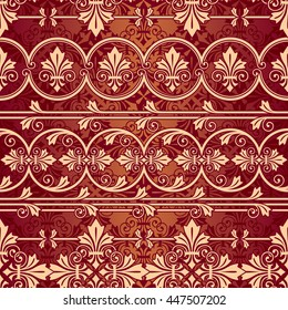 vector seamless pattern with European classic geometric pattern