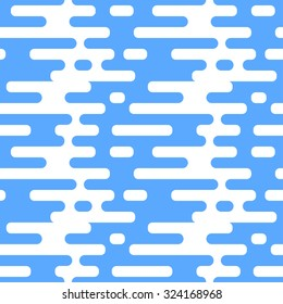 Vector seamless pattern with flat clouds