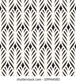 Vector seamless pattern. Floral stylish background. Vector repeating texture with stylized leaves.
