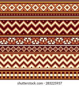 vector seamless pattern with folk geometric ornament