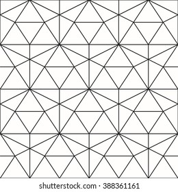 Vector seamless pattern. Geometric background with rhombus and nodes. Abstract geometric pattern. Gray texture. Seamless geometric pattern.