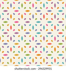 Vector seamless pattern with geometric ornament. Color decorative ethnic illustration for print, web