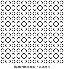 Vector seamless pattern with geometric ornament. Black and white decorative ethnic illustration for print, web