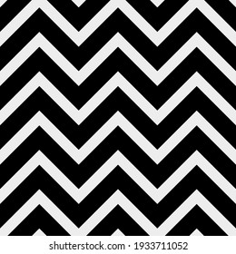Vector seamless pattern with geometric zigzag lines. Repeating minimalistic texture. Abstract monochrome background design.