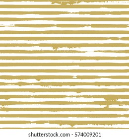 Vector seamless pattern with golden grunge stripes.