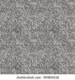 Vector Seamless Pattern. Grey Fur Background. Arctic Fox, Dog, Wolf Skin. Digital Illustration.