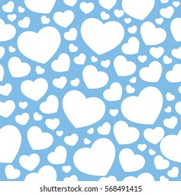 Vector seamless pattern with heart shapes for gift cards, invitation, textile, wrapping paper design.