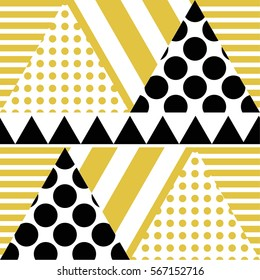 Vector  seamless pattern hipster Triangle Background . poster with different elements. Abstract Geometrical Poster. Modern Design Template with geometric shapes in various forms.illustration.