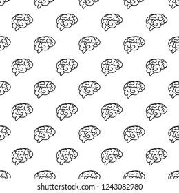 Vector seamless pattern of human brain. Vector human brain symbol seamless pattern.