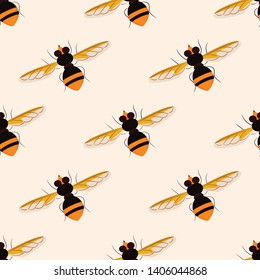 vector seamless pattern with insects
