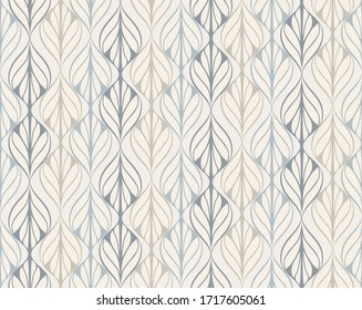 vector seamless pattern inspired by retro wallpaper designs in pastel colors - Shutterstock ID 1717605061