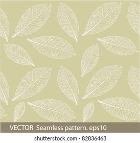 Vector seamless pattern with leafs