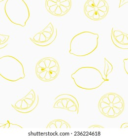 vector seamless pattern with lemon