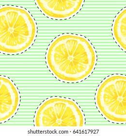 Vector Seamless pattern with lemons. Abstract seamless pattern  with cartoon lemons. Creative repeated backdrop. background for fashion textile, wrapping paper  Vector clip art.