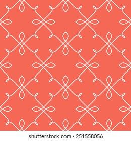 Vector seamless pattern. Linear graphic design. Decorative geometric mono line grid