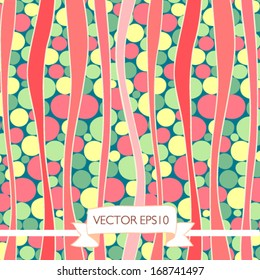 Vector seamless pattern with lines and circles. It can be used both in vertical and horizontal way. Endless background. - Shutterstock ID 168741497