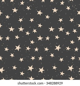 Vector seamless pattern of little stars from Christmas and New Year collection 2016. The perfect match with other patters and illustrations from this collection.