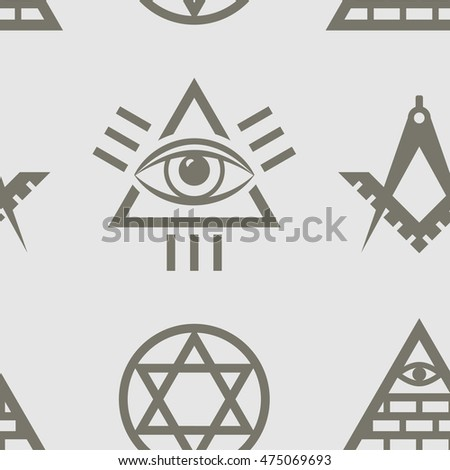 Vector Seamless Pattern Magic Esoteric Mystic Stock Vector Royalty