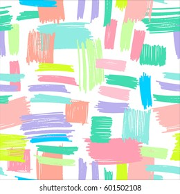 vector seamless pattern with marker hand drawn strokes