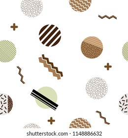 Vector seamless pattern in memphis style