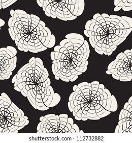 vector seamless pattern. modern floral texture. endless abstract background