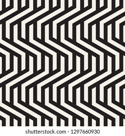 Vector seamless pattern. Modern geometric texture. Repeating abstract background. Polygonal linear grid from striped elements. Can be used as swatch for illustrator.