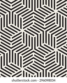 Vector seamless pattern. Modern geometric texture. Repeating abstract background. Polygonal linear grid from striped elements.