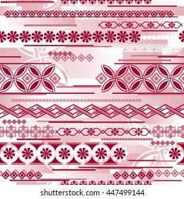 vector seamless pattern with modern irregular ornament