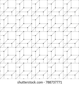 Vector seamless pattern. Modern small dotted texture with regularly repeating dotted lines, small dots, geometrical shapes. Contemporary techno design