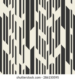 Vector seamless pattern. Modern stylih texture. Repeating stripes