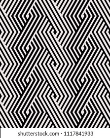 Vector seamless pattern. Modern stylish texture. Repeated geometric pattern with hexagonal tiles.