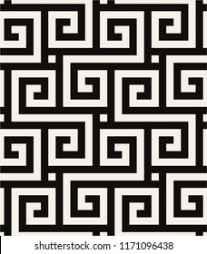 Vector seamless pattern. Modern stylish texture. Repeating Greek pattern. Monochrome swatch with meander. Can be used as swatch for illustrator.